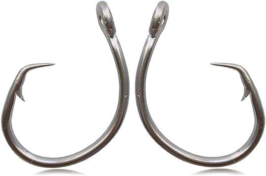 JSHANMEI Fishing Hooks Stainless Steel Tuna Circle Hook 3X Extra Strong Saltwater Fish Hooks