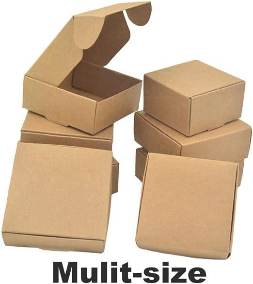 Caja de Embalaje de Papel Kraft de Color marrón Natural, 50 ...