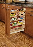 Rev-A-Shelf - 448-BCBBSC-5C - 5 in. Pull-Out Wood Base Cabinet Organizer with Ball-Bearing Soft-Close Slides