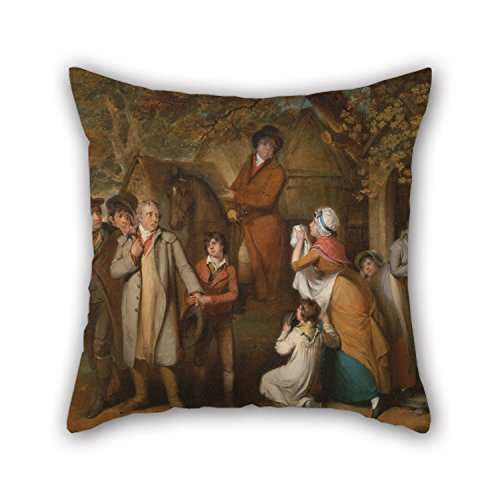 Alphadecor Pillowcase 18 X 18 Inches / 45 By 45 Cm(2 Sides) Nice Choice For Dining Room,couch,teens Girls,bf,shop,birthday Oil Painting William Redmore Bigg - The Severe Steward, Or Unfortunate (Louis Bullock Halloween)