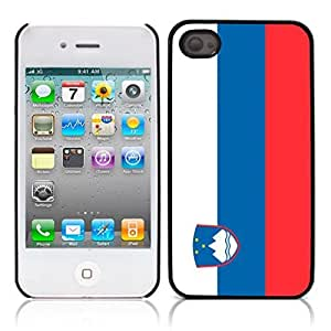 The national flag of Slovenia Hard Plastic and Aluminum Back Case for Apple iphone 4 4S