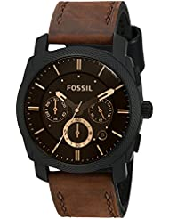 Fossil Mens FS4656 Analog Watch with Brown Band