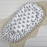 Baby nest bed or toddler size nest, grey foxes, portable crib, co sleeper babynest for newborn and toddlers