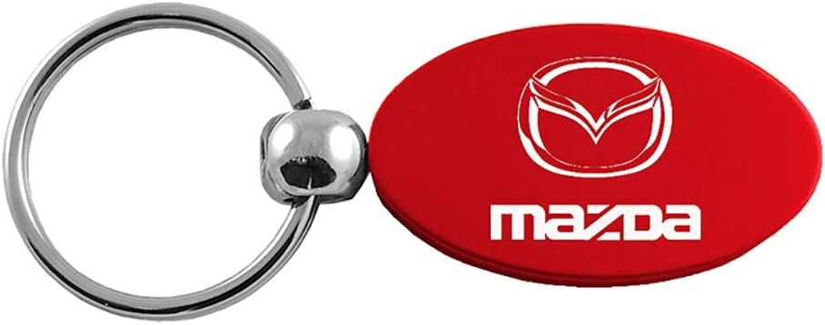 Mazda Red Aluminum Oval Key Chain