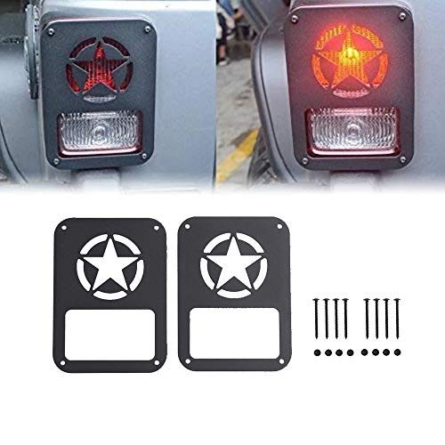 AL4X4 Tail Light Cover Jeep Tail Light Guards Protectors Covers for Jeep Wrangler Unlimited JK 2007-2017 2Pcs