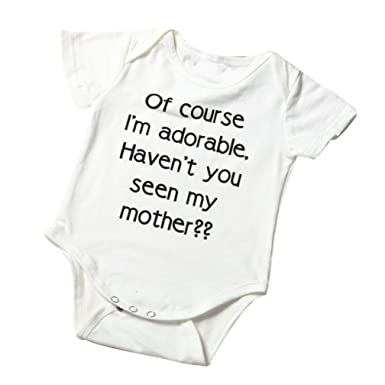 c746fa8bda78f Xshuai Baby Tops, Fashion Newborn Infant Toddler Baby Boy Girl Letter  Romper Jumpsuit Outfits Clothes