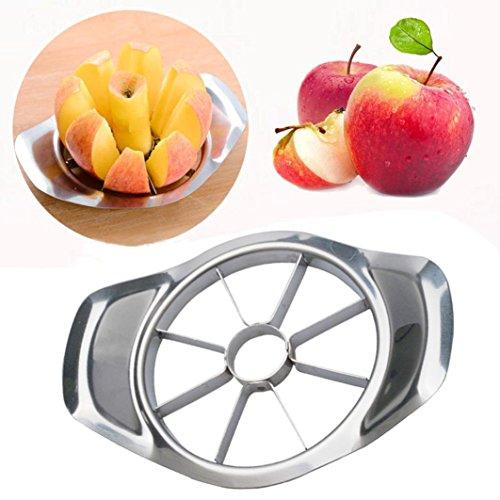 Rambling Fruit Slicer, New Stainless Steel Fruit Apple Pear Easy Cut Slicer Cutter Divider Peeler Corer Slicer