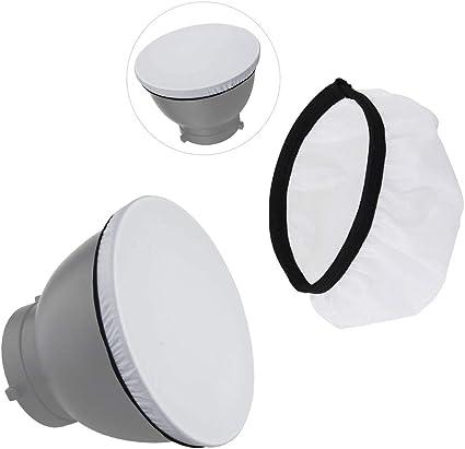 Fotoconic Standard Reflektor Mit 20 40 60 Grad Wabenraster Und Diffusor Socke Für Bowens Mount Studio
