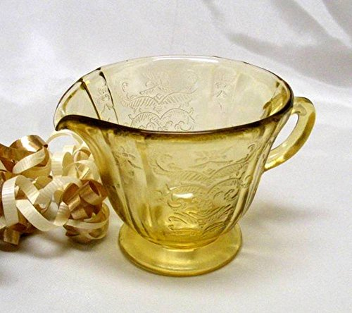 Federal Glass Amber Madrid - Glass Creamer Federal Glass