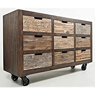 Jofran: 1600-60, Painted Canyon, 9 Drawer Accent Chest, 60″W X 18″D X 36″H, Pa ...