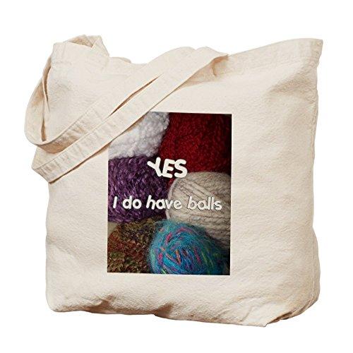 CafePress–Sì. I Do Have palline. Borsa di tela, colore naturale, panno borsa per la spesa