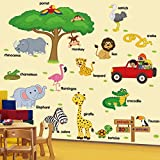Best Cartoon Walls - LiveGallery Giant Creative DIY Tree Branches Squirrel Rabbit Review