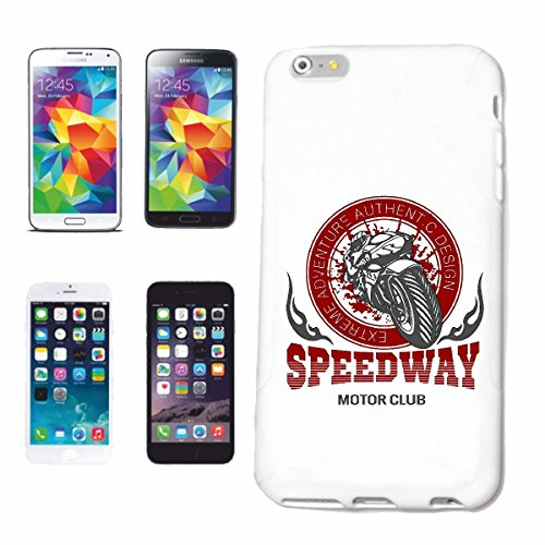 "cas de téléphone iPhone 7 ""SPEEDWAY MOTOR CLUB EXTREME SPORTS MOTOCROSS MOTOCROSS BIKE OUTDOOR Crossbike FREESTYLE"" Hard Case Cover Téléphone Covers Smart Cover pour Apple iPhone en blanc"