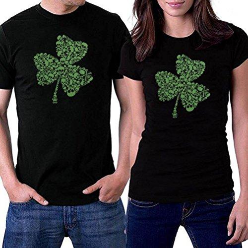 AIMEE7 Mode Femmes Fille Shamrock Imprimé T-Shirt à Manches Courtes Lâche Tee Tops
