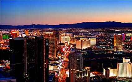 Amazon.com: LAS VEGAS SKYLINE GLOSSY POSTER PICTURE PHOTO ...