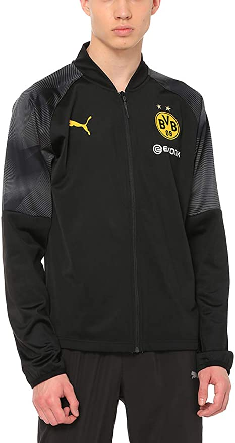 PUMA Herren BVB Stadium Poly Jacket with Sponsor Logo