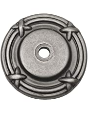 10 Pack - Cosmas 9468WN Weathered Nickel Cabinet Hardware Knob Backplate/Back Plate