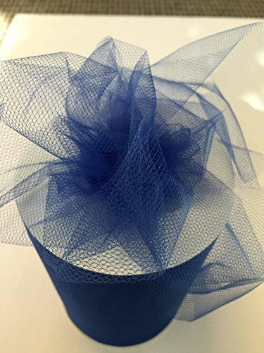 Tulle Fabric Spool/Roll 6 inch x 100 yards (300 feet), 34 Colors Available, On Sale Now! (royal) (Royal Tulle Blue)