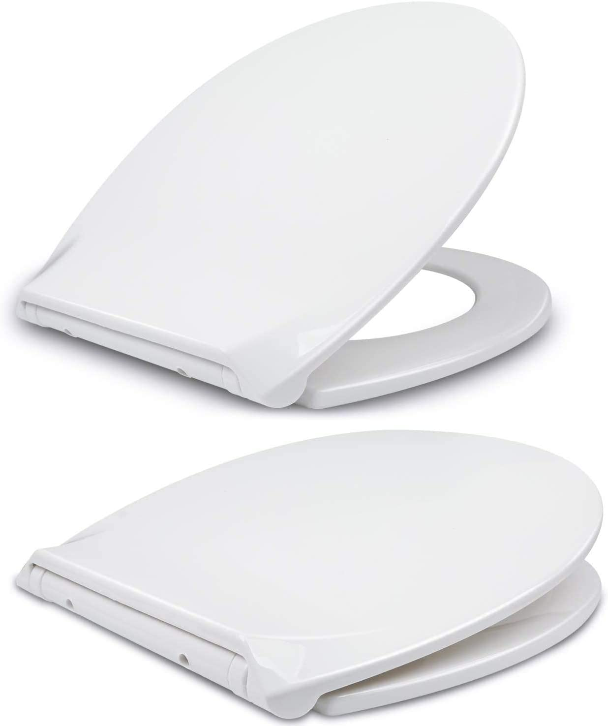 Simple Top Fixing O Shape AEE LIFV Soft Close Quick Release Toilet Seat Automatic Lowering,Ergonomic Design with Stainless Steel Hinges