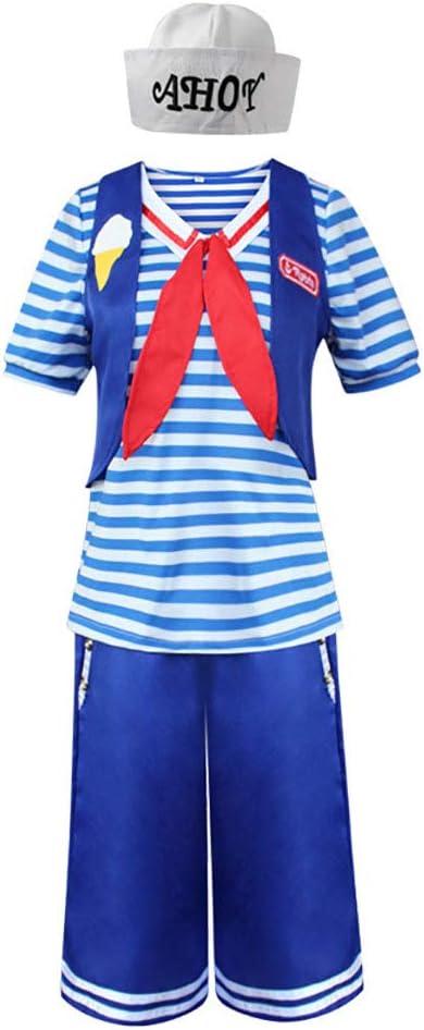 HJG Robin cucharadas de Trajes de Marinero Cosplay Armada, Mar-Camisa a Rayas Trajes del Anime de Cosas más Raras con Accesorios,Female,XL: Amazon.es: Deportes y aire libre