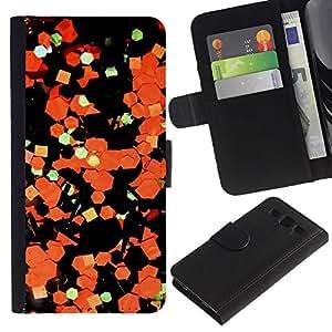 Abstract Art Paper Naranja Negro- la tarjeta de Crédito Slots PU Funda de cuero Monedero caso cubierta de piel Para Samsung Galaxy S3 III i9300 i747