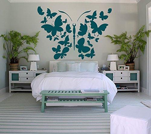 vinilo mural con mariposas
