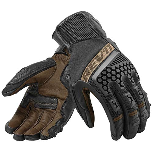 (Jeasfulty Motocross Adventure Touring Vented Motorbike Street Motorcycle Gloves Brown XXL)