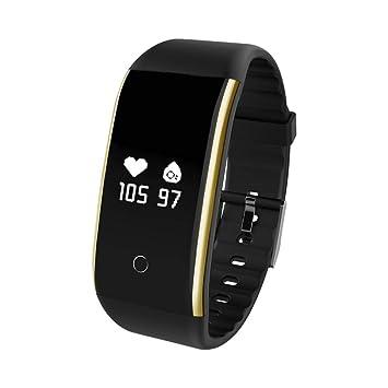 Pulsera de Fitness Touch Smart, con medidor de frecuencia cardíaca, tensiómetro de tensión Arterial