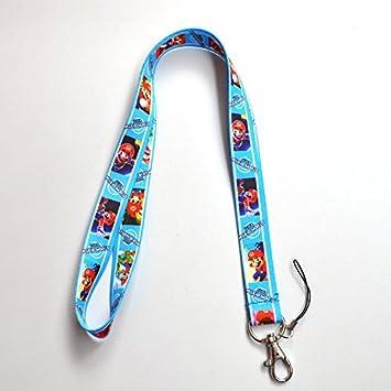 Super Mario Bros cordón llavero soporte clave tarjeta ...
