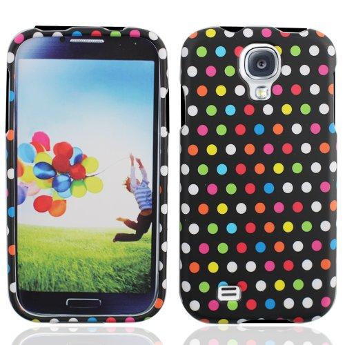 LF Rainbow Dot Designer Hard Case Cover, Lf Stylus Pen and Lf Screen Wiper Bundle Accessory for Samsung Galaxy S Iv 4 / -