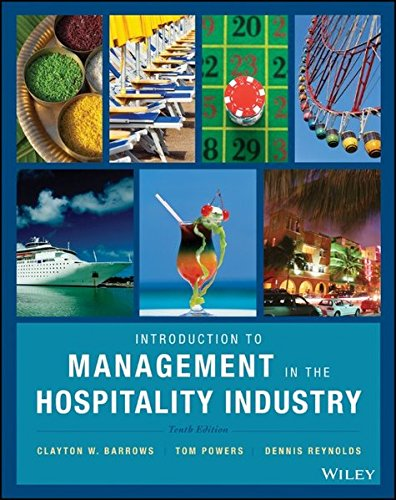 Management in the Hospitality Industry - book