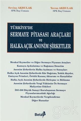 Türkiye'de Sermaye Piyasası Araçları ve Halka Açık Anonim