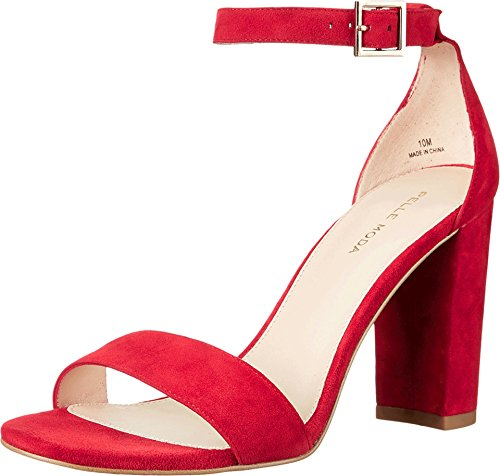 Moda Suede Pumps (Pelle Moda Women's Bonnie Lipstick Kid Suede Pump 9.5 M)