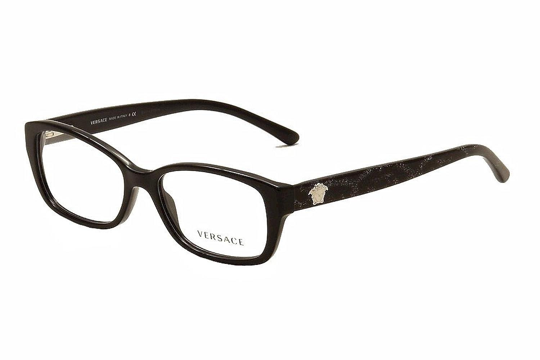 Amazon.com: Versace VE3207 Eyeglass Frames 5131-54 - Black VE3207 ...