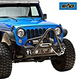 EAG Front Bumper Stinger with D-rings and Winch