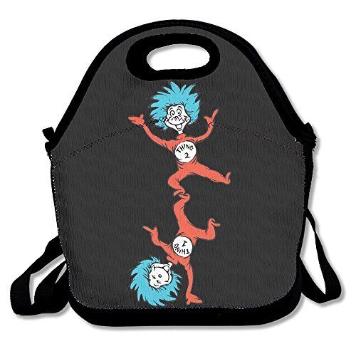 LLusrty Dr Seuss Thing 1 And Thing 2 Standup Funny Lunch Tote Lunch Bag