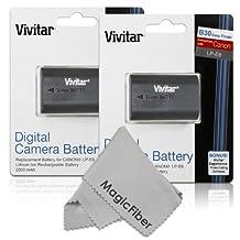 (2 Pack) Vivitar LP-E6 Ultra High Capacity 2000mAH Li-ion Batteries for CANON 5D Mark II, 5D Mark III, EOS 6D, 60D, 7D, 70D (Canon LP-E6 Replacement)
