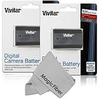 (2 Pack) Vivitar LP-E6 LP-E6N High Capacity 2000mAH Li-ion Batteries for CANON 5D Mark II, 5D Mark III, 5D Mark IV, EOS 6D, 60D, 7D, 7D Mark II, 70D, 80D (Canon LP-E6 Replacement)