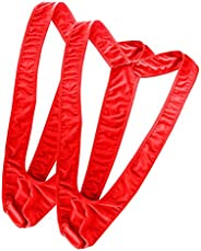 Oludkeph Set of 2 Mens Borat Mankini Underwear Costume Swimsuit Thong (Red, One Size)