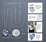 Leafael Infinity Love Heart Pendant Necklace with
