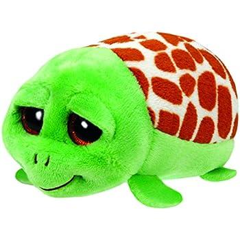 "Ty Teeny Tys 4/"" Shuffler the Pink Turtle Plush"