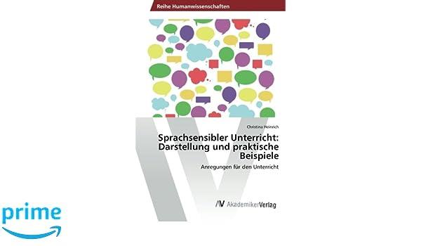 Sprachsensibler Unterricht: Darstellung und praktische Beispiele ...