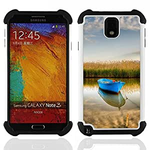 - Nature Boat/ H??brido 3in1 Deluxe Impreso duro Soft Alto Impacto caja de la armadura Defender - SHIMIN CAO - For Samsung Galaxy Note3 N9000 N9008V N9009