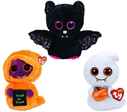 Ty Beanie Boos 2017 Medium Size 13 Inch Halloween Collection: Dart, Scream and (Halloween Beanies Collection)