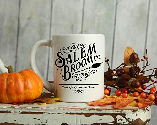 Tee Funny Salem Broom Co Mug - Halloween Mug - Witches - Salem Witches - Witch Mug - Fall Mug - Halloween - Mugs 15 oz