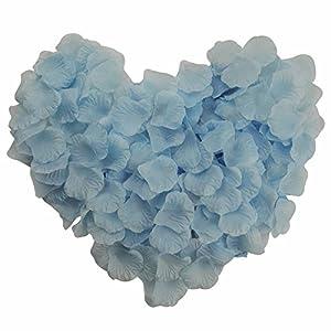 Skyshadow Light Blue Monolithic Rose Petals Artificial Flowers Wedding Silk Petals Romantic Proposal (1000 pcs) 99