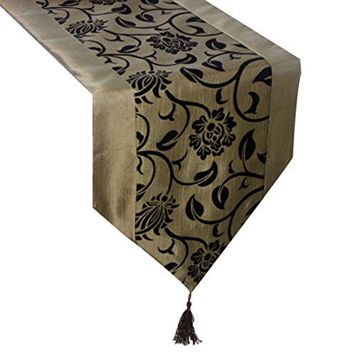 uxcell-flocking-taffeta-table-top-damask-runners-76-l-x-11-w-champagne