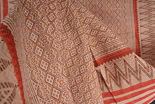 Naga blanket 386 The Naga tribal fabric Ethnic Naga hand loomed woven cotton throw stripe boho cotton textile Ethnic Naga textile