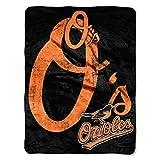 MLB Baltimore Orioles Micro Raschel Plush Throw Blanket, Trip Play Design