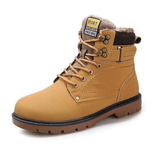 846aecd33b6 QUICKLYLY Botas para Hombre Calzado De Protección Zapatos para Hombre  Martin Boots De Invierno Antideslizantes Resistentes Al Desgaste  Herramientas De ...